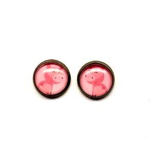 Pig Earrings - Cute Animals